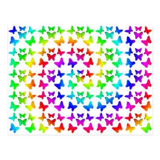 Bright Rainbow Swirl Butterflies Postcard