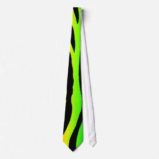 Bright Rainbow Zebra Stripes Tie