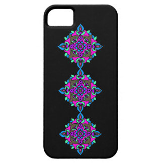 Bright Rangoli Pattern on a Black Background Case For The iPhone 5