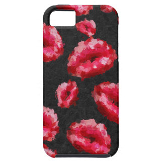 Bright Red Abstract Lips iPhone 5 Cover