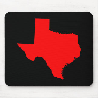 Bright Red and Black Texas Mouse Mat