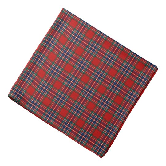 Bright Red and Navy Blue Clan MacFarlane Tartan
