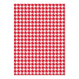 Bright Red and White Houndstooth Pattern 13 Cm X 18 Cm Invitation Card