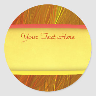 Bright red and yellow grungy background round sticker