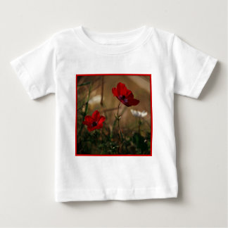 bright red anemones baby T-Shirt