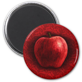 Bright Red Apple Magnet