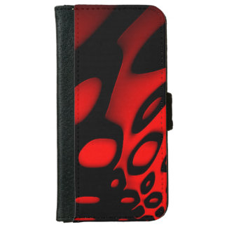 Bright Red Black Abstract iPhone6 Wallet Cases iPhone 6 Wallet Case