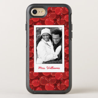 Bright Red Cherry Pattern   Add Your Photo OtterBox Symmetry iPhone 7 Case