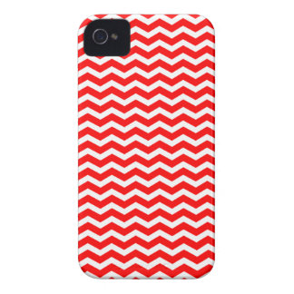 Bright Red Chevron pattern iphone 4 case