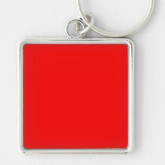 bright red DIY custom background template Keychain
