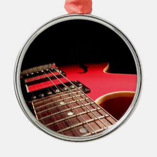 Bright Red Electric Guitar Photo Christmas Ornament
