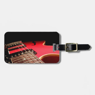 Bright Red Electric Guitar Photo Luggage Tag