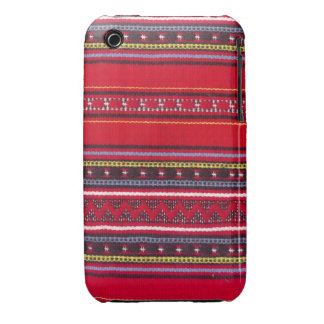 Bright red fabric iPhone 3 covers