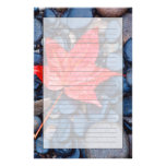 Bright Red Fall Leaf Customised Stationery