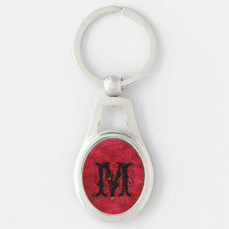 Bright Red Grungy Pattern Keychain