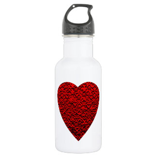 Bright Red Heart Picture. 532 Ml Water Bottle