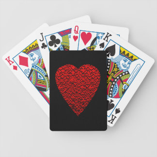 Bright Red Heart Picture. Bicycle Playing Cards