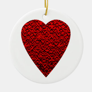 Bright Red Heart Picture. Christmas Ornament