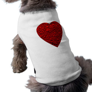 Bright Red Heart Picture. Doggie T Shirt