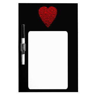 Bright Red Heart Picture. Dry Erase Board