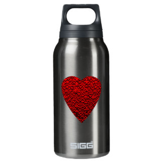 Bright Red Heart Picture. Insulated Water Bottle