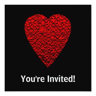 Bright Red Heart Picture. Custom Invitations