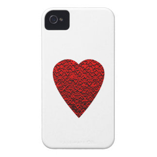 Bright Red Heart Picture. iPhone 4 Case-Mate Case