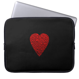 Bright Red Heart Picture. Laptop Sleeve