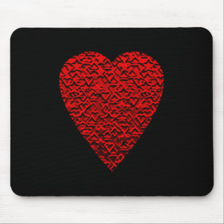 Bright Red Heart Picture. Mouse Mat