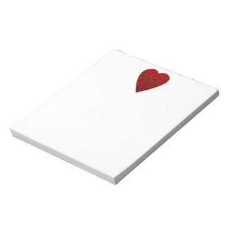 Bright Red Heart Picture. Notepad