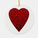 Bright Red Heart Picture. Ornament