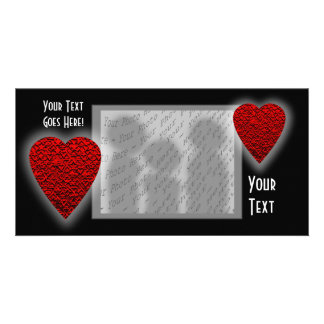 Bright Red Heart Picture. Picture Card