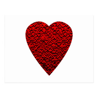 Bright Red Heart Picture. Postcard