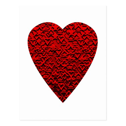 Bright Red Heart Picture. Post Card