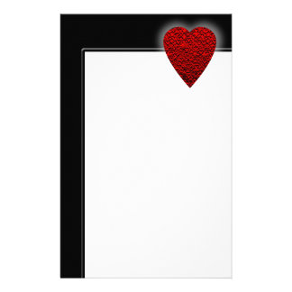 Bright Red Heart Picture. Stationery