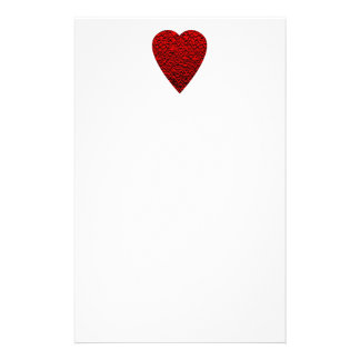 Bright Red Heart Picture Custom Stationery
