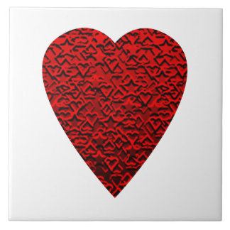 Bright Red Heart Picture. Tile