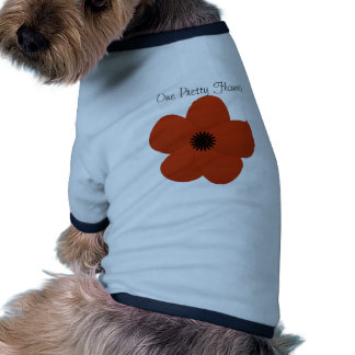 Bright Red Holiday Season Flower Gift Pet Clothes