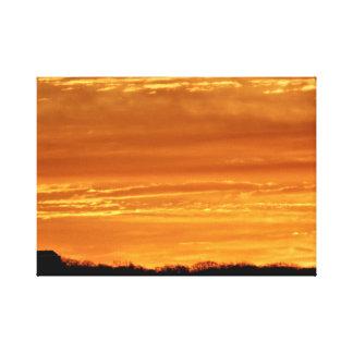 Bright Red Lava Sunrise Canvas Print
