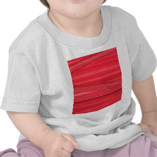 Bright Red Lines Design Digital Art T-shirt