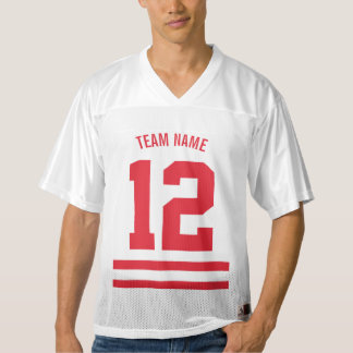 Bright Red Personalised Football Team Men's Football Jersey