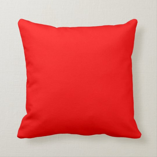 Bright red plain beautiful luxury cushion pillow