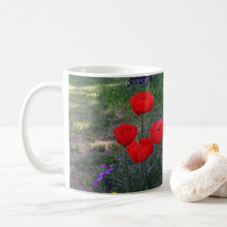 Bright Red Poppies Coffee Mug