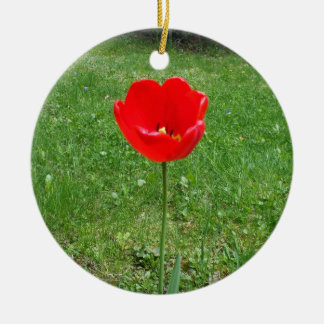 Bright Red  Poppy Christmas Ornament