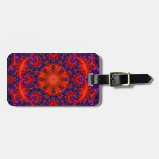 Bright Red Purple Fractal Luggage Tag