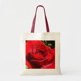 Bright Red Rose Flower Beautiful Floral Tote Bag