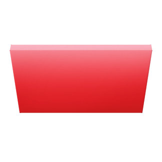 Bright Red Sky Gallery Wrapped Canvas