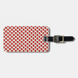 Bright Red Strawberries Design Luggage Tag