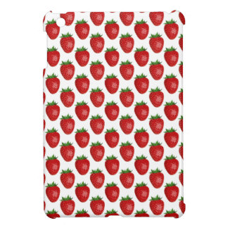 Bright Red Strawberries On White, iPad Mini Case