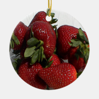 Bright Red Strawberry Ornament